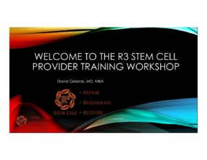 R3 Stem Cell Training Introduction